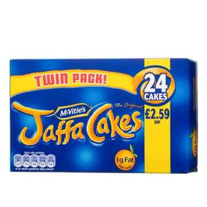 McVitie's Twin Pack of Jaffa Cakes (24 per pack - 300g) Now only £1.00 again @ Asda