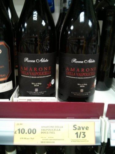 Amarone della Valpollicella. £10.00 @ Tesco
