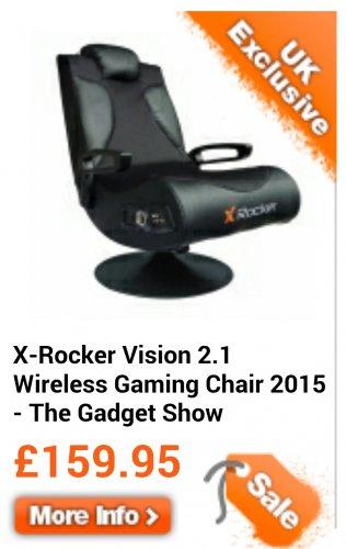 X rocker vision 2.1 gaming chair £159.95 @ Boys Stuff