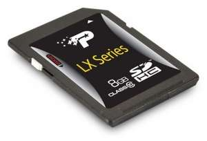 Patriot LX 8GB Secure Digital High Capacity Card £2.99 or 16GB £4.98 @ Ebuyer.com free delivery