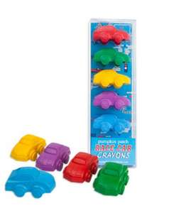 Boys Racing Car shaped chunky crayons Pack of 5 only £2.80 free delivery from Pumpkin Patch