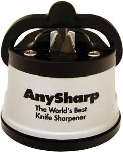 AnySharp Global World's Best Knife Sharpener (Silver) £6 @ Amazon  (free delivery £10 spend/prime)