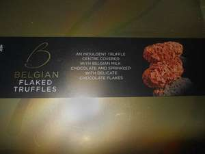 M&S Belgian Chocolate flaked Truffles half price £3 at Marks & Spencer