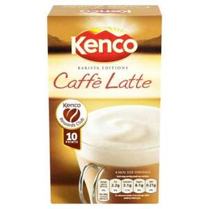 Kenco Caffe Latte 8 Sachets 158G Was 2.50 now £1.25 @ Tesco