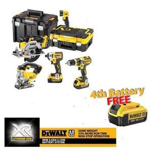 Dewalt 5 piece tool kit with 4th 4ah battery free! £679.97 From Anglia tools.