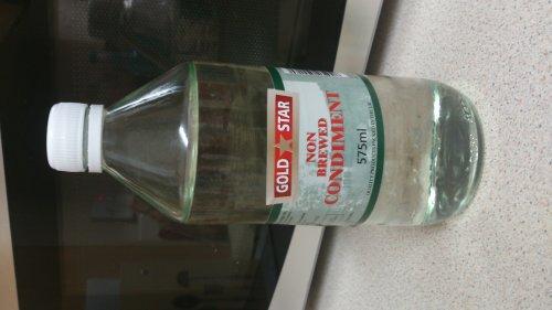 Gold star white vinegar 17p for 575ml bottle at Co Op