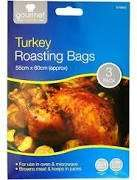 LARGE Roasting Bags  x 3  for £1 - 45cm x 55cm Poundland Suitable for Large Turkeys.