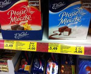 E.Wedel Chocolate Covered Marshmallows 2 for £4.00 @ Tesco