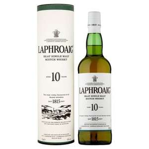 Laphroaig 10 year old or Laphroaig Select Islay Single Malt Whisky - £25.00 at Tesco