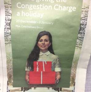 No Congestion Charge - 25th Dec to 01st Jan