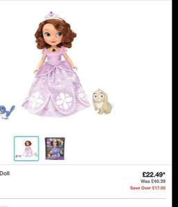 Sofia the First Talking Doll, CHEAPEST ONLINE  £22.49 @ Argos/Amazon