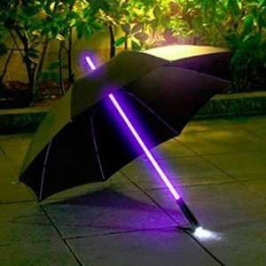 7dayshop Rainbow LED Multi Colour Changing Umbrella with LED Torch in Handle £12.99