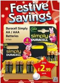 Simply Duracell AA Batteries x 12 - £2.99 @ Savers