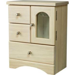 Wooden 3 Drawer Jewellery Box £10.  Was £24.99 @ Argos