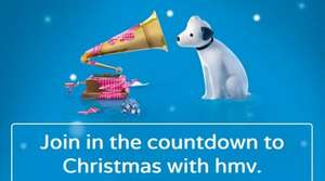 HMV Countdown To Christmas - Prizes Every Day. Registration open now (starts 13/12/2014) @ HMV