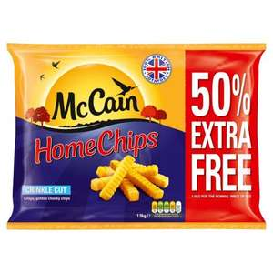 McCain Home Chips Crinkle Cut 1.5kg 3 for £5 at Iceland (works out at £1.67 each)