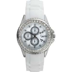 Spirit Ladies' White Stone Set Silicone Strap Watch, Reduced To £5.99 R&C @ Argos