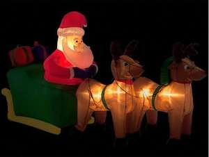 8ft Inflatable Santa, Sleigh and Reindeer £35 @.woolworths