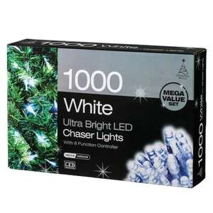 'Christmas World' 1000 indoor/outdoor LED Christmas lights £29.99 @ B&M
