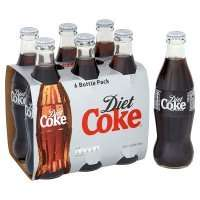 2 x 6 Pack of Real Glass Bottled Diet Coke for £2.75 with My Waitrose Card (23p per coke)