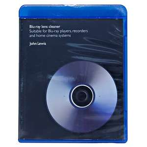 Blu Ray Lens Cleaner at John Lewis £3.75