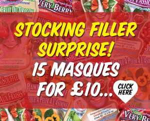 Stocking Filler Surprise 15 Face Masques for £10 @ Montagne Jeunesse