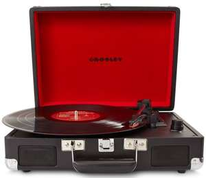 Crosley Cruiser Briefcase Style Three-Speed Portable Vinyl Turntable with Built-In Stereo Speakers black £61.81, Blue £61.80, Orange £62.15 @ Amazon Uk