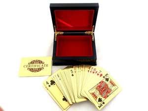 24K Gold Plated Playing Cards Free Delivery £8.92 @ Amazon