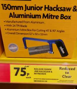 17pc Drill set and other various tools, 75p each @ Tesco Extra