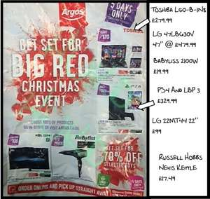 Upto 70% off event starting at Argos Big Red Event (12th Dec) including Toys,Sat Navs, TVs & more + £5 off £20 on toys (see OP)