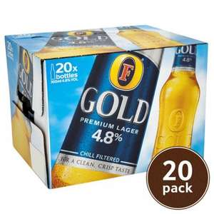 Fosters Gold 20x300ml Bottles £10 @ Tesco