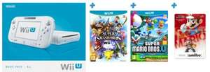 Wii U Basic + Super Smash Bros Wii U + Super Mario Bros U + Mario amiibo £199.99 @ Game