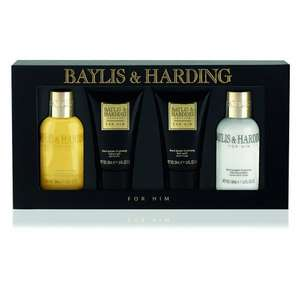 Baylis & Harding Black Pepper and Ginseng 4 Piece Gift Box £6 at Amazon