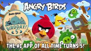 Free power-ups or coins for Angry Birds 5th Birdday worth at least £2.99