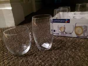 Luminarc la cave glasses two sizes 34 and 36cl £0.49p a glass @ home bargains