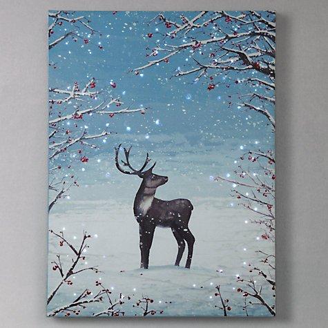 John Lewis Reindeer Pre-Lit Canvas 50% off now £7.50