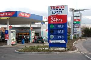 Tesco to cut petrol prices Upto a further 2p this afternoon (12PM) 12/12/14
