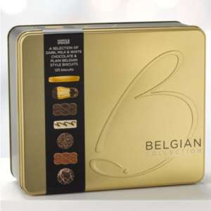 1KG Belgian Chocolate Biscuit Tin HALF PRICE £7.50 @ M&S