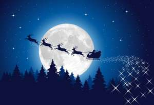 See Santa & His Reindeer fly across the sky on Christmas Eve 5.30-6pm FREE