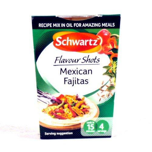 Schwartz Flavour shots Mexican fajitas 19p @ HomeBargains