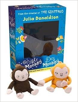 Night Monkey Day Monkey Books & Plush Set (Book & Toy) @ Amazon.co.uk  (free delivery £10 spend/prime) & instore WhSmith