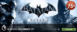 Batman PC Games and DLC from £1.40 @ Greenman Gaming deal of the day