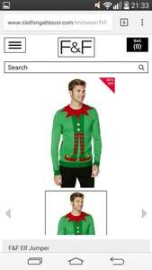 Tesco Mens Christmas jumpers 30% -  50% off