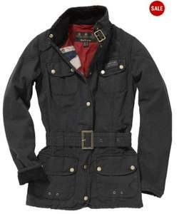 Barbour International Vintage Wax Jacket  Black size 10 £134.50 @ Smithandmorris