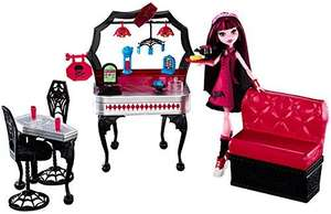 Monster High Die-ner and Draculaura Doll Playset - £9.07 - Amazon   (free delivery £10 spend/prime)