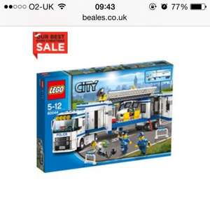 Lego City Police Mobile Unit £23.99 beales.co.uk