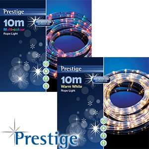 10M ROPE Christmas Lights /8 Light Sequence (home bargains £9.99)