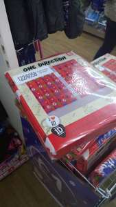 """One direction curtains 66"""" 54"""" £1 @ Poundworld"""