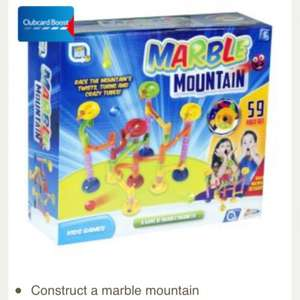 58 piece marble mountain, £4.50 free click and collect Tesco.