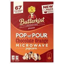 Butterkist pop n pour chocolate orange microwave popcorn 57p @ Tesco